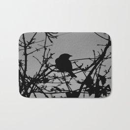 Silhouette Bird.  Bath Mat
