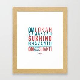 Lokah Samastah Mantra Yoga Framed Art Print