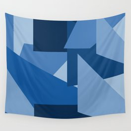 Blu-Geometric Wall Tapestry