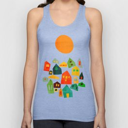 Looking at the same sun Unisex Tank Top