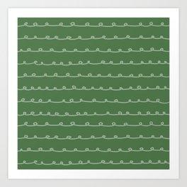 Evergreen Curlicues Art Print