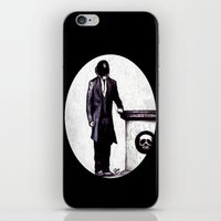 cyberpunk iPhone & iPod Skins featuring Life's Course You Flunk, Compute and Cyberpunk by Zombie Rust