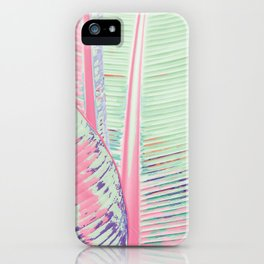 Flamingo and banana iPhone Case