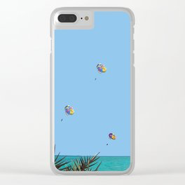 blue sky water and fun Clear iPhone Case