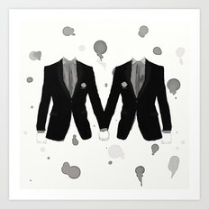 Gay Marriage Art Print