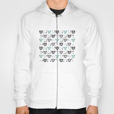 Geometric grizzly bear and arrows Hoody