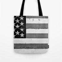 flag Tote Bags featuring Flag by Keith Dotson