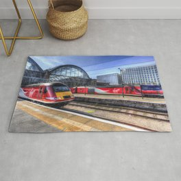 Kings Cross London Trains Rug