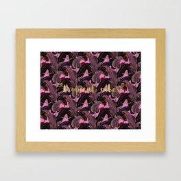 tropical vibes banana leaves Framed Art Print