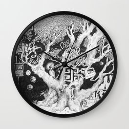 Surreal Tree Wall Clock