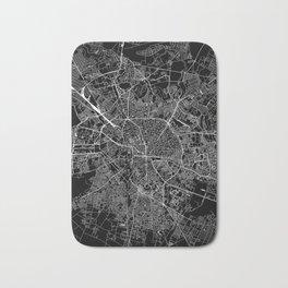 Bucharest Black Map Bath Mat