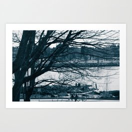 Lines - Trees in Vancouver, BC Art Print