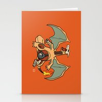charizard Stationery Cards featuring Charizard Anatomy by Logan Niblock
