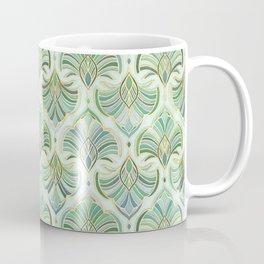 Jade Enamel Art Deco Fans Coffee Mug