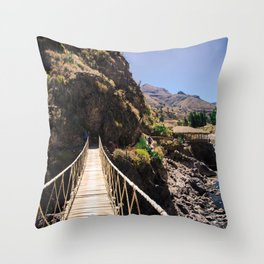 Hot Springs & Bridge Throw Pillow