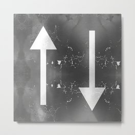 Creative Up and Down Abstract Arrows Metal Print