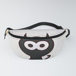 Space Cat - Black White Pop-Art Fanny Pack