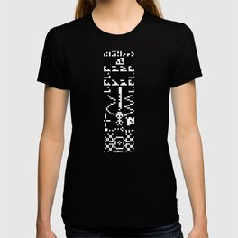 Reply to 1974 SETI Arecibo Message in Crop Circle Formation UK 2001 Alien UFO Message T-shirt