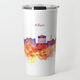 Athens Skyline Travel Mug