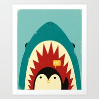 strong Art Prints featuring Hi! by Jay Fleck