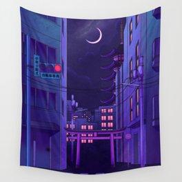 Tokyo Night Wall Tapestry