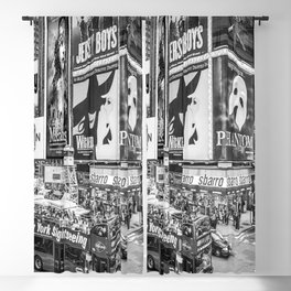 Times Square II (B&W widescreen) Blackout Curtain
