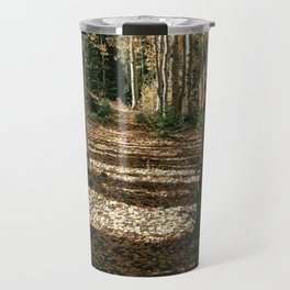 Fall Aspen Tree Hike by OLena Art Travel Mug
