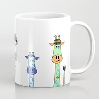 giraffes Mugs featuring Giraffes by Jozi