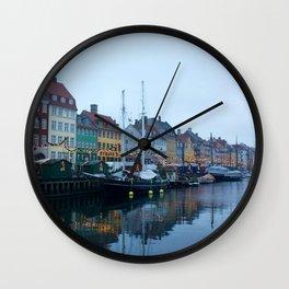 Nyhavn Copenhagen 2 Wall Clock