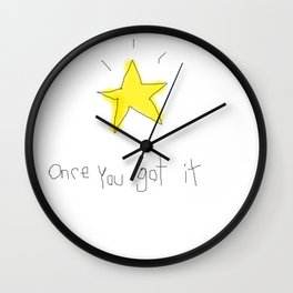 kid wanna say something... Wall Clock