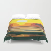 sunrise Duvet Covers featuring Sunrise by Nuam