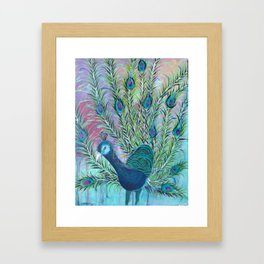 Tail of the Peacock Framed Art Print