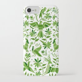 Mexican Otomí Design in Green iPhone Case