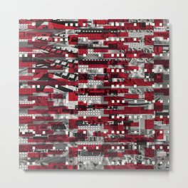Nothing Is Accomplished (P/D3 Glitch Collage Studies) Metal Print