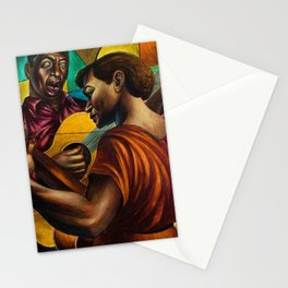 African-American 1951 Classical Masterpiece 'Gospel Singers' by Charles White Stationery Cards