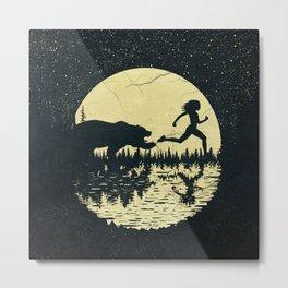 Moon Runners Metal Print