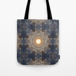 Blue yellow mandala Tote Bag