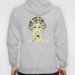 The woman with the curlers Hoody
