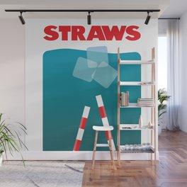 Straws Wall Mural