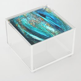 Doodle in blue Acrylic Box