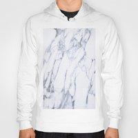 white marble Hoodies featuring White Marble by Ricardo Lopez