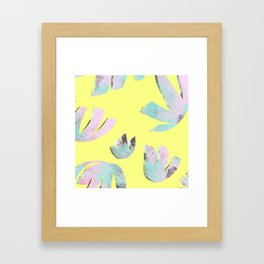 flora pattern no.1 / bright yellow Framed Art Print