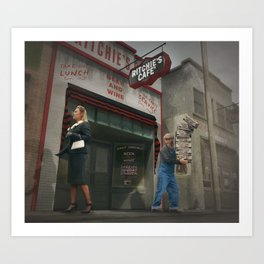 Lunch distractions Art Print
