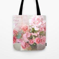 Paris Impressionistic Roses Tote Bag