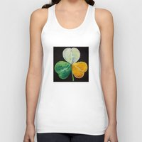 irish Tank Tops featuring Irish Shamrock by Michael Creese