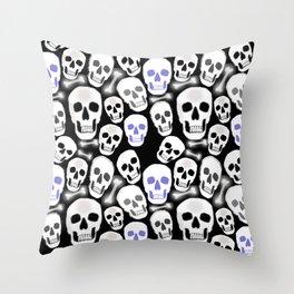 Small Tiled Skull Pattern Throw Pillow