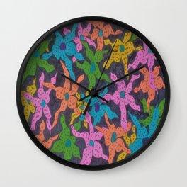 Midnight Bouquet Wall Clock