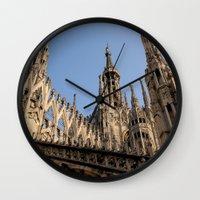 milan Wall Clocks featuring Milan by Alan Wong