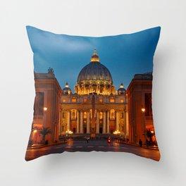 Basilica Papale di San Pietro in Vaticano - ROME Throw Pillow