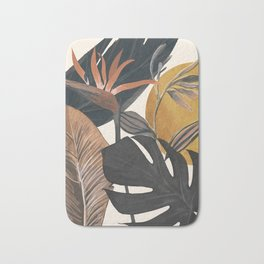 Abstract Tropical Art III Bath Mat